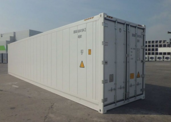 container lạnh 40 feet màu trắng