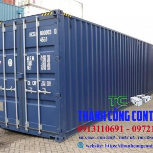 Container 40 feet dc xanh