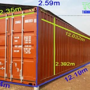 Container 40 feet kích thước