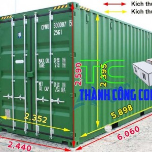 kích thước container 20ft